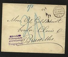 Belgium   military   cover    1915 ,  postage due  marking            KL0803
