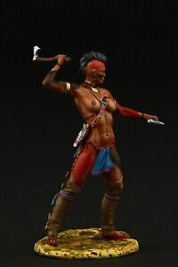 Tin soldier, Collectible Female Iroquoise Warrior 54 mm, American Natives
