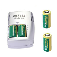 3V 1200mAh CR123A 16340 Rechargeable Li-ion Battery & Charger for Camera