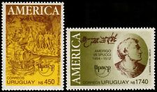 ✔️ URUGUAY 1991 - UPAEP AMERICA VESPUCCI - MI. 1960/1961 ** MNH OG [101.039A]