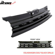 Fits 99-06 VW Golf MK4 GTI R32 Badgeless Front Hood Grill Grille Black ABS