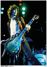 Jimmy Page Live Los Angeles 1972 Color Poster 23.5 x 33 Uk Import Led Zeppelin