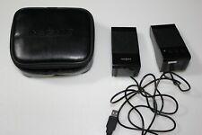 Insignia Notebook Speakers Model # NS-NBSPK 2 w/case - slightly used