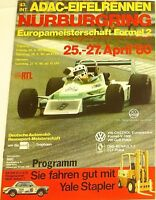 25 27. April 80 43. Int ADAC Course Eifel Nürburgring Brochure de Programme I08