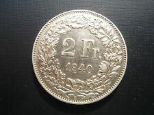 Switzerland 2 Francs 1940B.