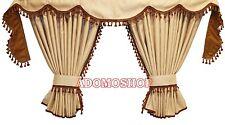 CAMION RIDEAUX pour DAF xf106 xf105 Beige Marron Petit franges/pompons - 4 cm