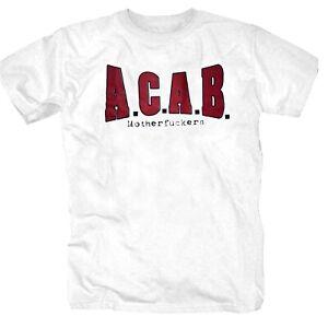 Motherfuckers 13/12 Rocker Spass Hooligans Bullen Rowdy AC/AB Shirt S-4XL weiss