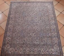 Fine Vintage Hand Knotted Oriental Estate 6.7X8.2Ft Silk On Wool Rug R160