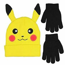 f5837b69f3d NEW w Tags Pokemon Pikachu Winter Beanie Hat and Gloves Set - FREE Shipping!