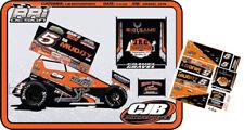 CD_SC_101 #5 David Gravel Go Muddy 2018 Sprint Car   1:18 Scale Decals    NEW