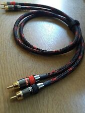 *HIFI Special* Monster/Europa RCA Phono Cable Black & Red braided 0.5m Pair