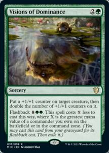 Visions of Dominance MTG Magic  Innistrad Midnight Hunt x1  IN HAND SHIPS NOW!