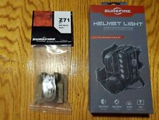 SureFire HL1-A-TN Helmet Light w/Blue, White & Infrared and Z71 Molle Clip New.