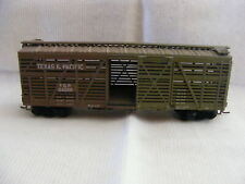 Vintage Ho Scale Texas & Pacific T&P 24099 40' Cattle Car Weathered h