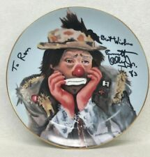 Flambro Charlotte Kelly Autographed Emmett Kelly Collector's Plate ''Why Me?''