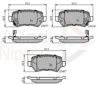 Allied Nippon Rear Brake Pad Set ADB31551  - BRAND NEW - 5 YEAR WARRANTY