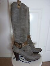 Dune grey suede knee high boots size 6 (39)