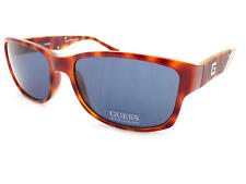 GUESS men's Sunglasses Shiny Brown Tortoise/ Dark Grey-Blue Lenses GU6755 HNY-9