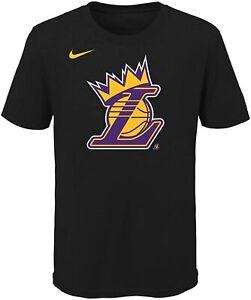 Nike NBA Youth Los Angeles Lakers Lebron James #23 Crown Tee Shirt, Black