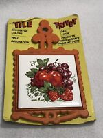 Vintage Mod Retro Tile And Cast Iron Trivet NEW