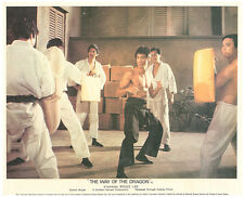 THE WAY OF THE DRAGON ORIGINAL BRITISH LOBBY CARD BRUCE LEE BARE CHESTED KARATE