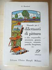 MANUALE PER I DILETTANTI DI PITTURA - RONCHETTI 19° ED. 1986 HOEPLI - A7