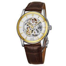 Oris Men's Artelier Skeleton Dial Leather Strap Automatic Watch 73476704351LS73