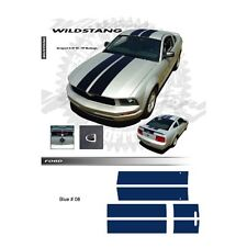 Ford Mustang 2005 to 2009 Wildstang Blue Body Graphic Kit