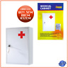First Aid Wall Mount Medical Cabinet Case Stainless Steel Lockable Safe Box