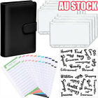 A6 PU Leather Notebook Binder Budget Planner Organizer 6 Ring Binder Covers 2021