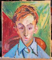 André Beaucé   1911/1974 -  huile /toile  -  portrait d'enfant -