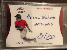2015 Leaf Trinity Red #ASK1 Scott Kingery 7/10