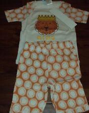 Size 6 Boys The Company Store Kids Lion 100% Cotton Summer Pajama Set Pajamas