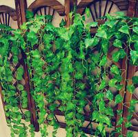 "2.5m/98.7"" Artificial Ivy Leaf Garland Vine Fake Foliage Home Room Decoration"