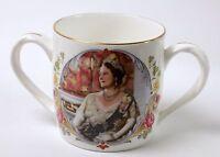Queen Mum Elizabeth 80th Birthday Commemorative Loving Cup Mug Crown Staffords