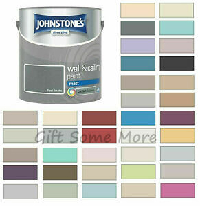 Johnstones Wall Ceiling Matt Emulsion Paint 2.5 Litres - ALL COLOURS