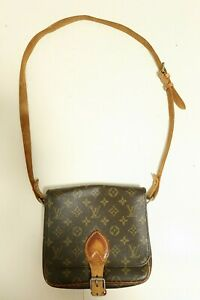 Authentic Louis Vuitton Cartouchiere MM Shoulder bag brown #7485