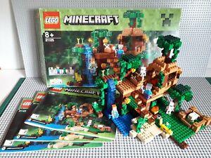 Lego Minecraft - 21125 - La Cabane Dans L'arbre De La Jungle  Boite + Notices