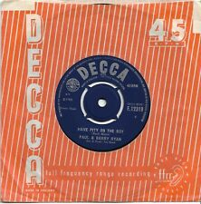PAUL & BARRY RYAN - Have Pity On The Boy (1966) EX copy DECCA label F.12319