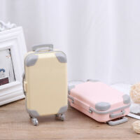 Doll Accessories Plastic Travel Train Mini Plastic Suitcase LuggageJ Fy