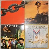 The Crusaders, 4 Vinyl Record Lot, 3 LP & 1 DLP, All US 1st Press Fusion BB King