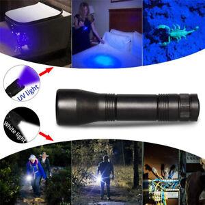 UV Ultra Violet LED Flashlight Blacklight 365nm 5W Inspection Lamp Torch18650