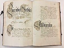 1768 Lg Handwritten 18th c. German Manuscript Book Calligraphy Penmanship 210 pp