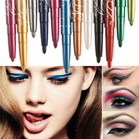 12 Color Professional Eye Shadow Lip Liner Eyeliner Pen Pencil Makeup New