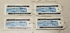 4 Vintage Greyhound Bus Lines Luggage String Tags