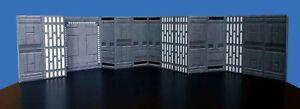 "3.75"" Death Star Hallway Diorama Walls 2 pack Star Wars Hasbro Kenner Ships Free"