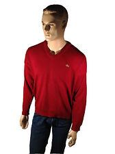 Men's Original Lacoste Red Cotton Jumper Size L