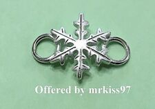 New (Used on Convertible Bracelets) Snowflake Clasp Sterling Silver 925