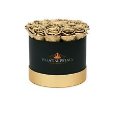 24k Gold Roses That Last A Year! Flower Box of Roses In A Box Home Decor Gift
