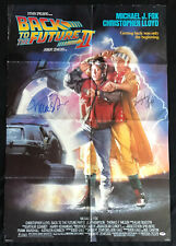 Michael J. Fox Christopher Lloyd Signed 1989 Back to the Future II 26x40 Poster